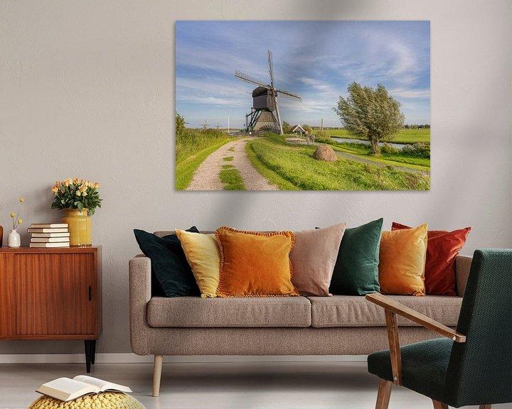 Beispiel: Windmühle in Kinderdijk von Michael Valjak