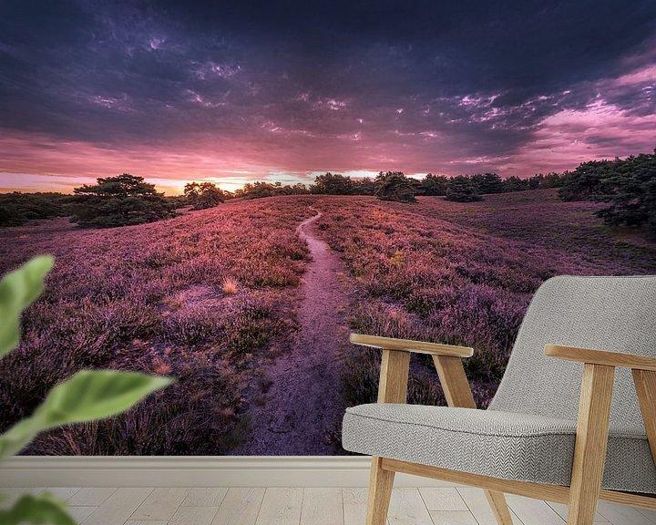 Sfeerimpressie behang: purple lagoon van Bas Handels