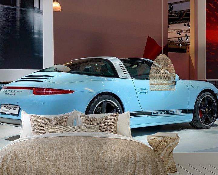 Beispiel fototapete: Porsche 911 Targa 4S Sportwagen Rückansicht von Sjoerd van der Wal