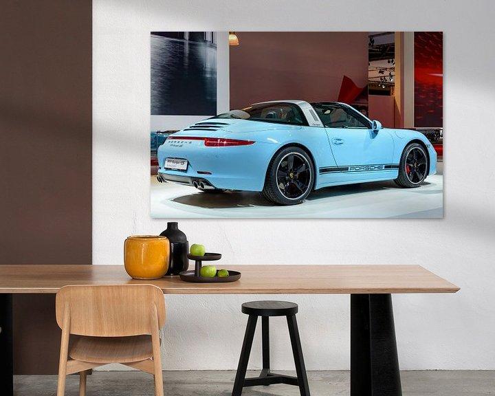 Beispiel: Porsche 911 Targa 4S Sportwagen Rückansicht von Sjoerd van der Wal