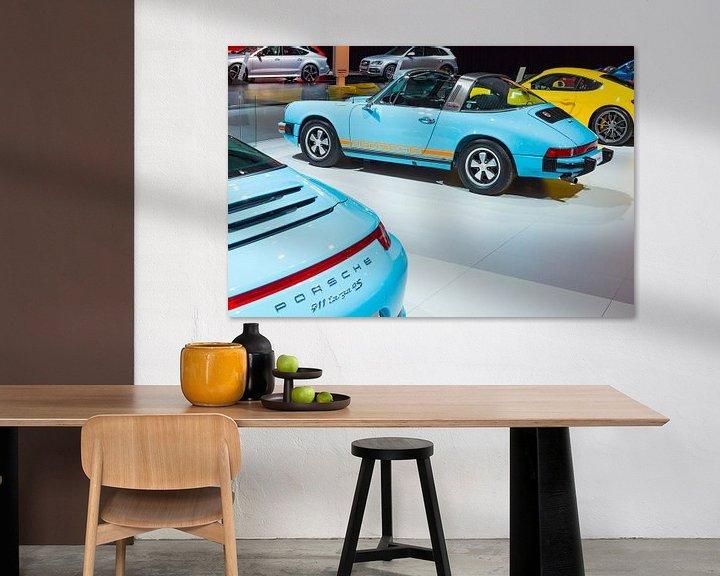 Beispiel: Classic 1974 Porsche 911 Targa Sportwagen Rückansicht von Sjoerd van der Wal
