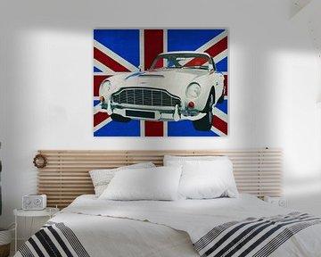 Aston Martin DB5 voor de Union Jack