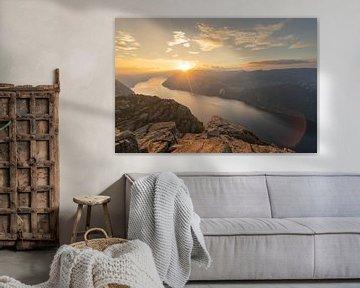 Sonnenuntergang an den Fjorden von Robert de Boer