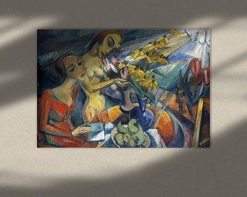 Frauen am Tisch, Dorothea Maetzel-Johannsen, 1920 von Atelier Liesjes
