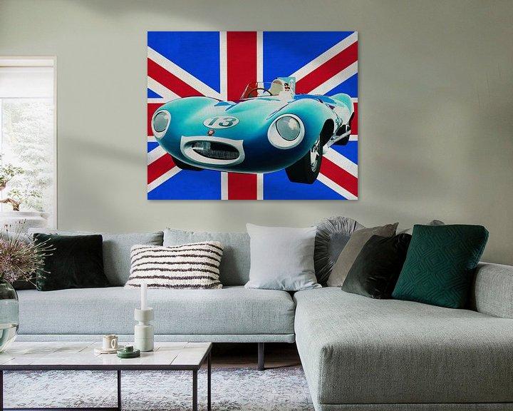 Sfeerimpressie: Jaguar Type D voor de Union Jack van Jan Keteleer