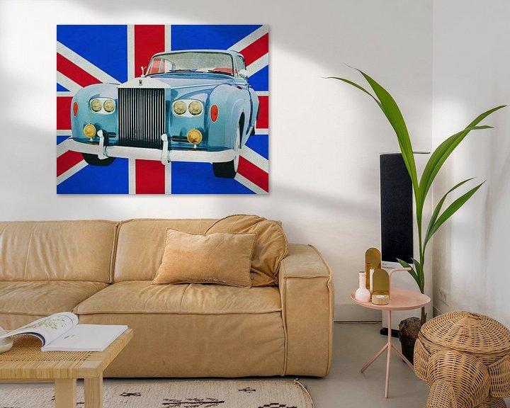 Sfeerimpressie: Rolt Royce Silver Cloud voor de Union Jack... van Jan Keteleer