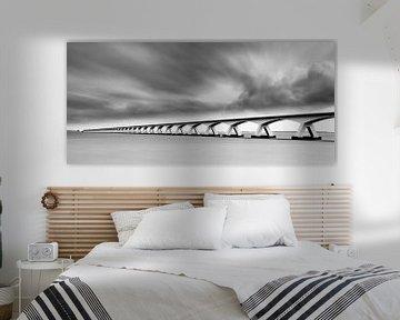Die Zeelandbrücke in Schwarz-Weiß von Henk Meijer Photography