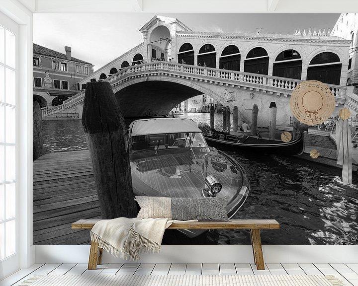 Beispiel fototapete: Rialtobrücke mit Boot von Andreas Müller