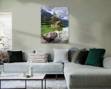 Der Hintersee in Ramsau im Berchtesgadener Land von Rico Ködder