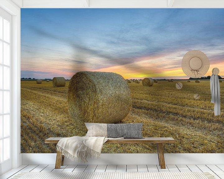 Beispiel fototapete: Strohballen im Sommer von Michael Valjak