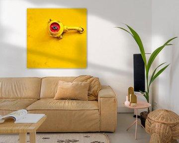 Schakelaar in rood en op geel