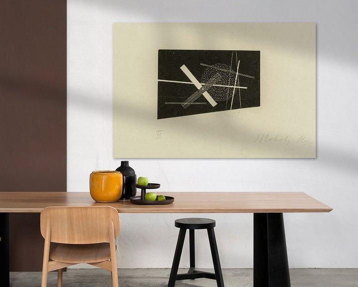 Sfeerimpressie: Bauhaus, Compositie (kruis en cirkel) - László Moholy-Nagy, 1923 van Atelier Liesjes