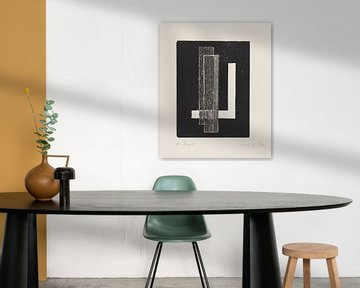 Bauhaus, LÁSZLÓ MOHOLY-NAGY, zonder titel, 1922 van Atelier Liesjes