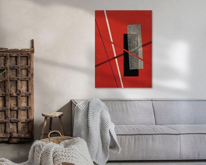 Sfeerimpressie: Bauhaus, Zonder titel, uit de portfolio Konstruktionen, Kestnermappe 6 - László Moholy-Nagy, 1923 van Atelier Liesjes