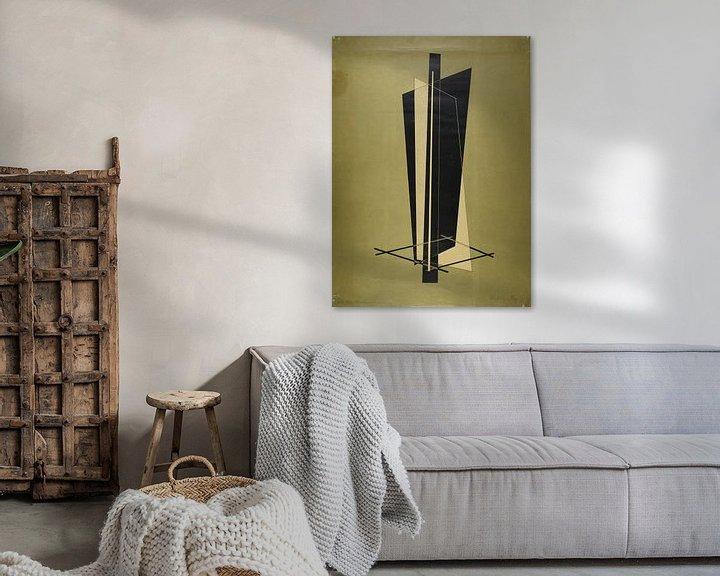 Sfeerimpressie: Bauhaus, László Moholy-Nagy, zonder titel (Compositie) - 1923 van Atelier Liesjes