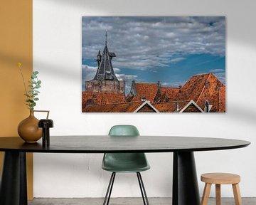 Der Turm des Eingangstores der Elburg in Gelderland von Harrie Muis