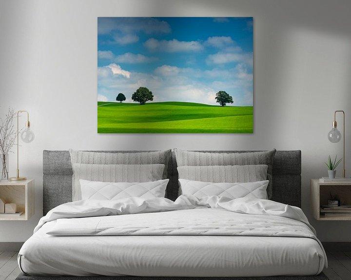 Beispiel: Wolkenstimmung mit Bäumen von Andreas Müller