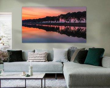 Sonnenaufgang am Kanal durch Walcheren, Zeeland