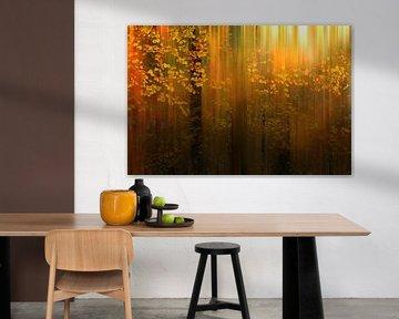 Herbstliche Farben im Liesbos von Cees van Gastel