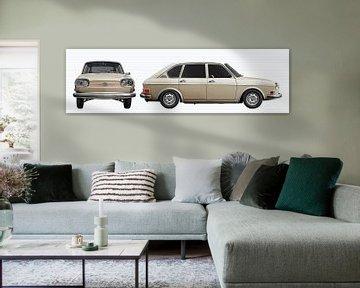 VW 411 dubbelaanzicht van aRi F. Huber