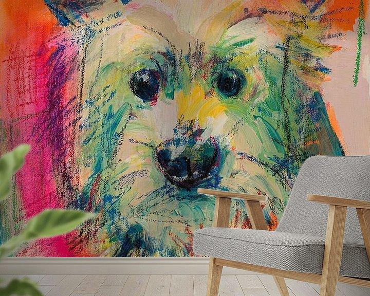 Impression: Terrier blanc sur Liesbeth Serlie