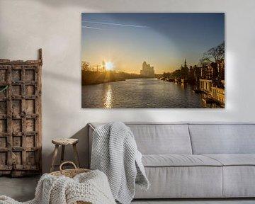 Amstel vanaf Nieuwe Amstelbrug van Bart Van Dijk