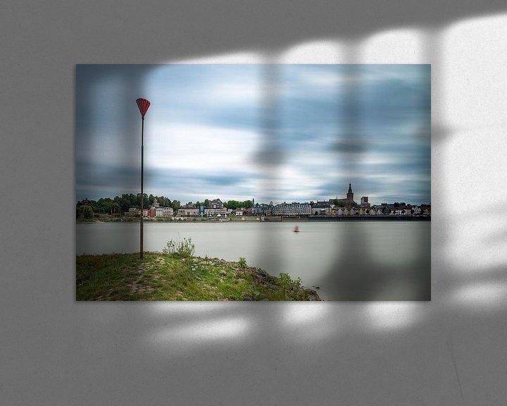 Sfeerimpressie: Gezicht op Nijmegen vanaf Lent van Maerten Prins