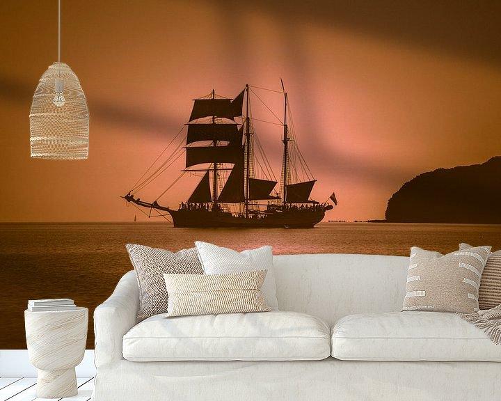 Sfeerimpressie behang: Zeilschip in de Oostzee van Mirko Boy
