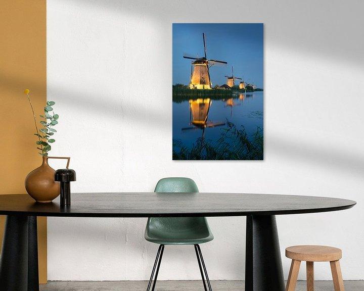 Sfeerimpressie: Molens van Kinderdijk van Mark Bolijn