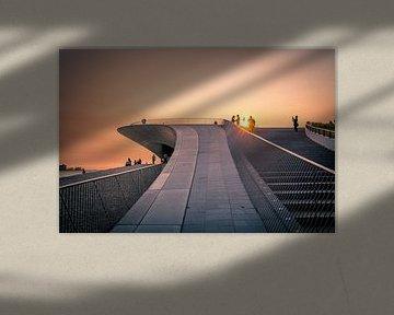 Lissabon zonsondergang van Simone Haaring