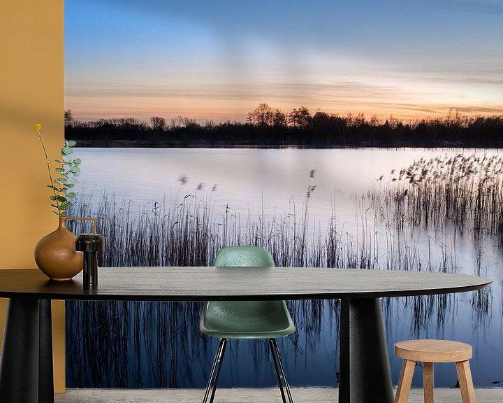 Beispiel fototapete: Sonnenuntergang bei De Wijers von Johan Vanbockryck