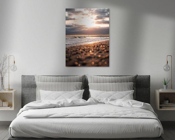 Beispiel: Sonnenaufgang Strand Oostkappele von Joren van den Bos
