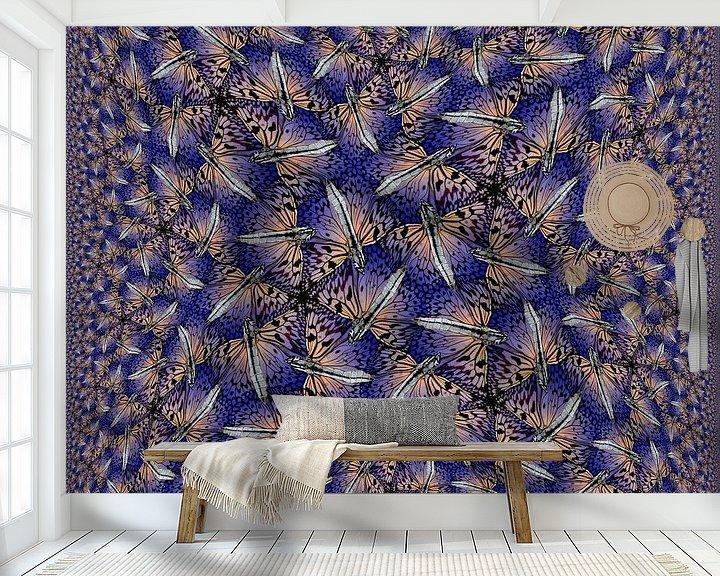 Sfeerimpressie behang: Square Butterflies van Tis Veugen