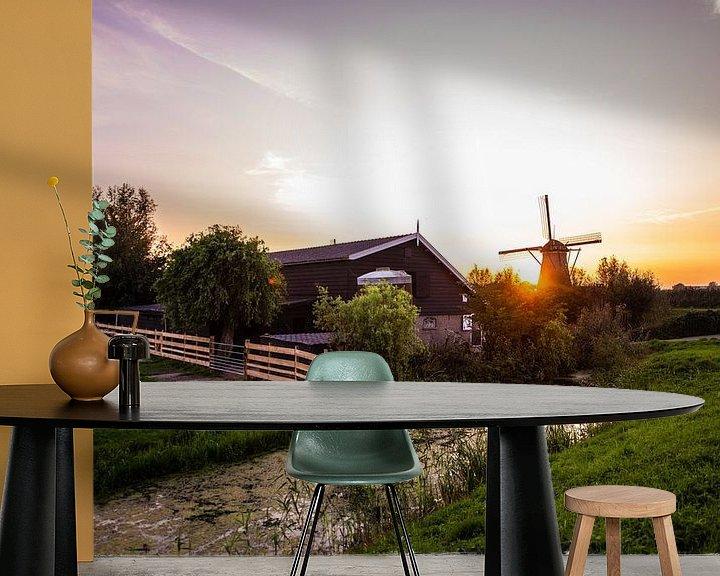 Beispiel fototapete: Windmühlen von Kinderdijk von Brian Morgan