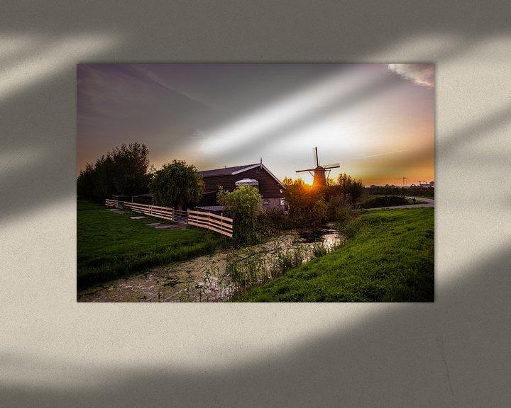 Beispiel: Windmühlen von Kinderdijk von Brian Morgan