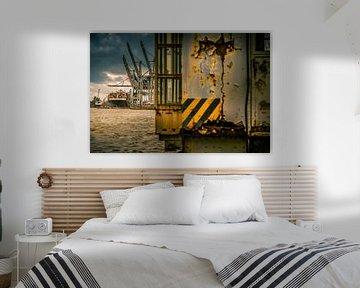 Der Hamburger Hafen mit seinen Containerterminals