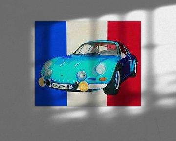 Alpine Renault 1600-S 1973 avec le drapeau français