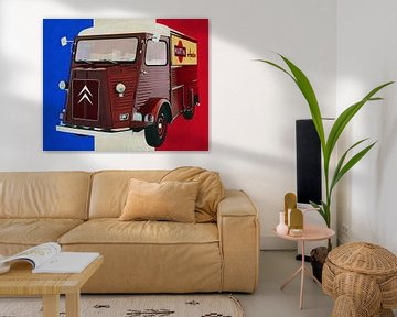 Citroën H-Type avec drapeau français