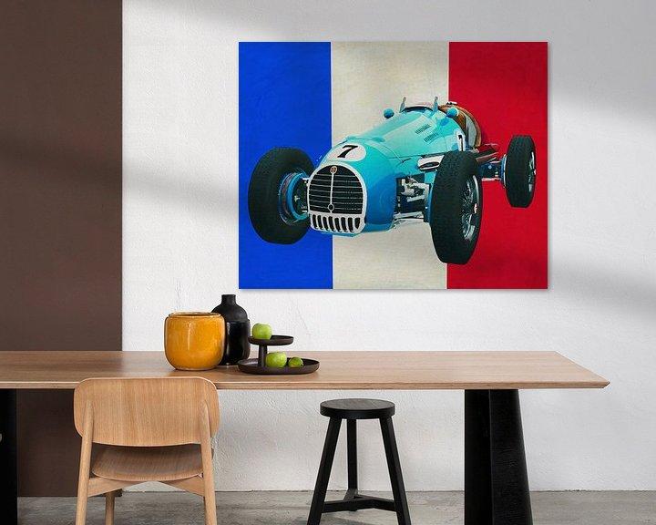 Sfeerimpressie: Gordini T16 Grand Prix 1952 met Franse vlag van Jan Keteleer