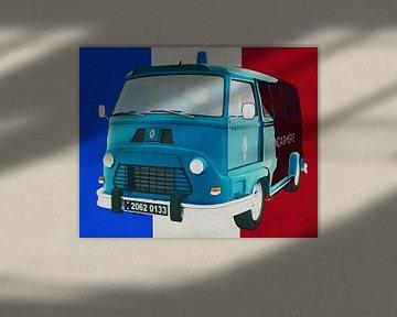 Renault Estafette 800 gendarmerie 1965 avec le drapeau français