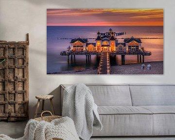Sonnenaufgang an der Seebrücke von Sellin, Rügen, Deutschland von Adelheid Smitt