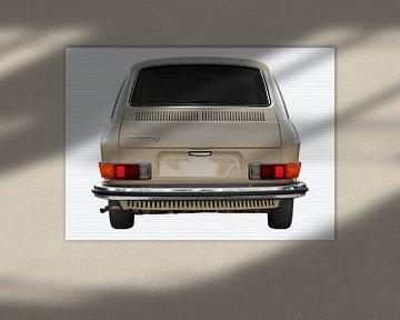 VW 411 rear view in original color von aRi F. Huber