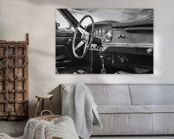 Tableau de bord de la Maserati 3500 GT Spyder, voiture de sport classique sur Sjoerd van der Wal