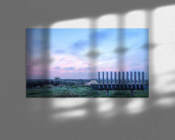Sfeerimpressie: Een bank met uitzicht in De Onlanden over water van R Smallenbroek