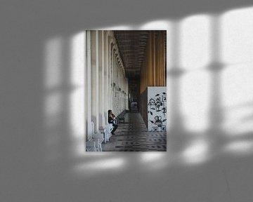 Einsamer Mann in Ostende von Christian van Lent