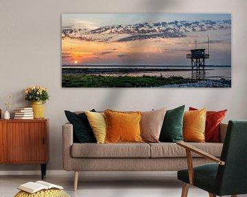 Panorama zonsondergang Grevelingenmeer Scharendijke van Marjolein van Middelkoop