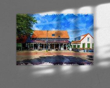 Restaurant Zeebinkie in Burgh-Haamstede (Kunst) von Art by Jeronimo