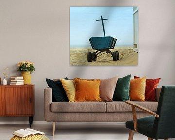 Holz Buggy mit Meerblick von Mieneke Andeweg-van Rijn