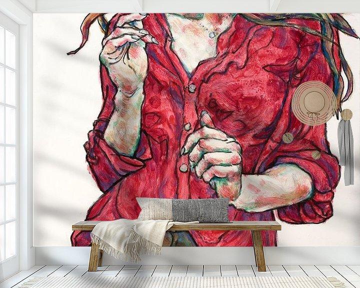 Beispiel fototapete: Bildnis einer Frau, Symbole senden von Gunter Langer