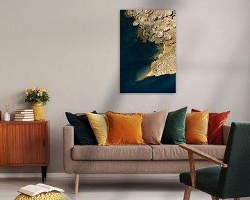 Abstracte kust van Renzo de Jonge